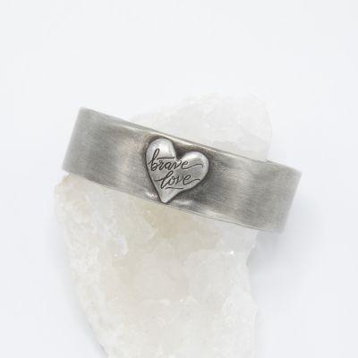 Brave Love® Emblem Cuff {Pewter}