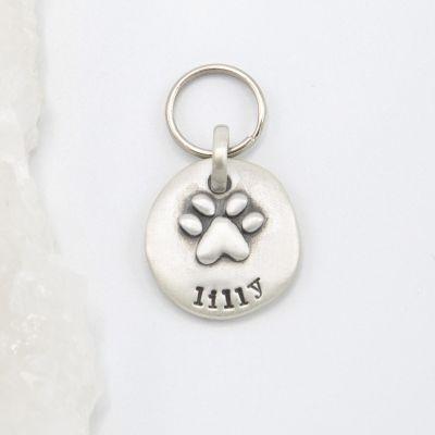 Furry Footprint Keychain {Sterling Silver}