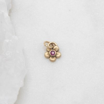 Birthstone Bloom Charm {10k Gold}