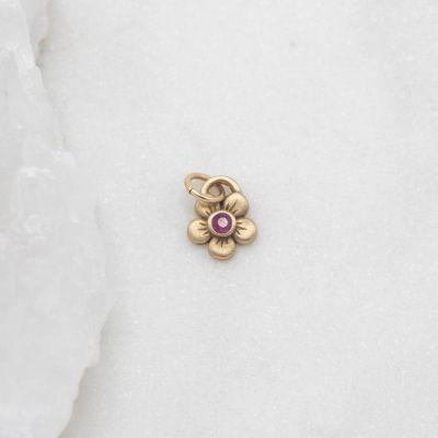 Birthstone Bloom Charm {14k Gold}