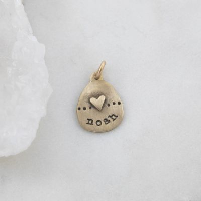 Heart with Dots Charm {14K Gold}