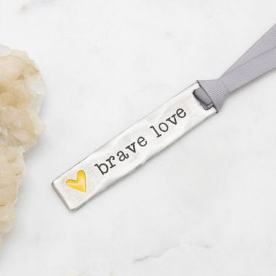 Brave Love® Bar Bookmark {Pewter}