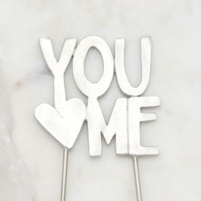 You And Me Cake Topper {Pewter}