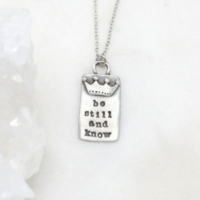 Be Still Necklace {Pewter}