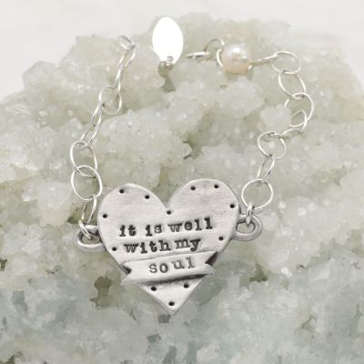 Well with My Soul Bracelet {Pewter}
