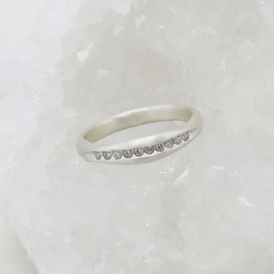 Passage Ring {10k White Gold}