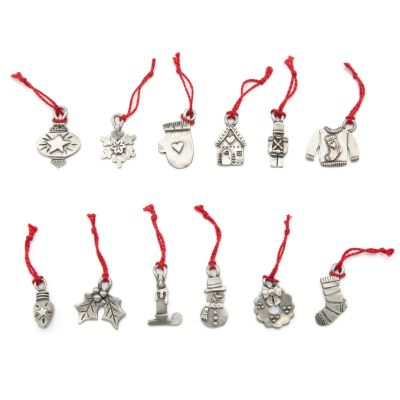 Christmas is Coming Advent Ornament Set {Pewter}