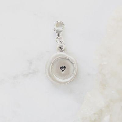 Wax Seal Bracelet Charm {Sterling Silver}