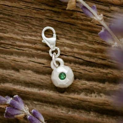 Always Loved Birthstone Bracelet Charm {Sterling Silver}
