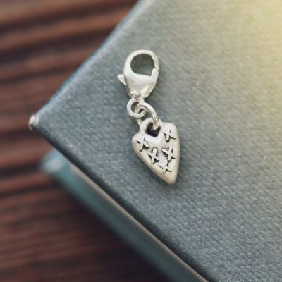 Light + Bright Kisses Heart Bracelet Charm {Sterling Silver}