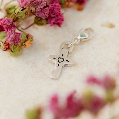 Storyteller Cross Bracelet Charm {Sterling Silver}