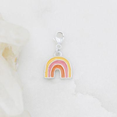Rainbow Bracelet Charm {Sterling Silver}