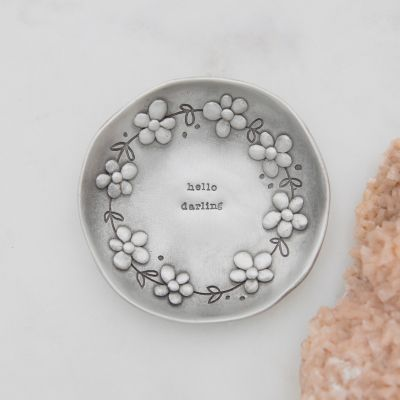 Daisy Chain Keepsake Dish {Pewter}