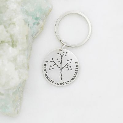 The Original Family Tree Keychain {Sterling Silver}