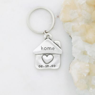 We Are Home Keychain {Sterling Silver}