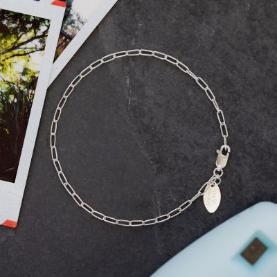 Small Oval Link Bracelet Chain {Sterling Silver}
