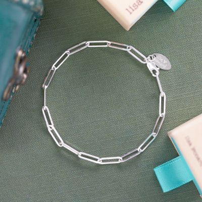 Large Oval Link Bracelet Chain {Sterling Silver}