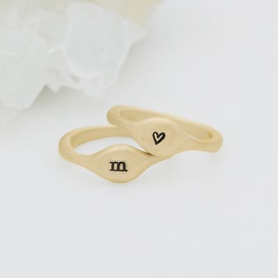 Initial Stacking Ring {14K Gold}