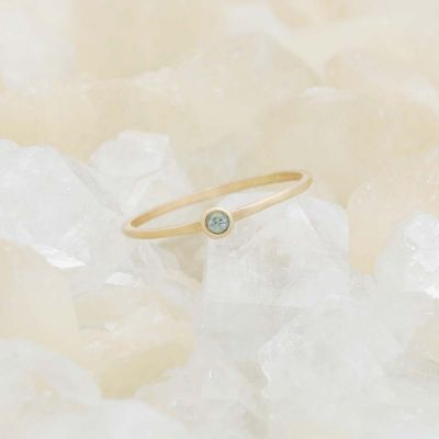 Dainty Finespun Birthstone Ring {10K Gold}