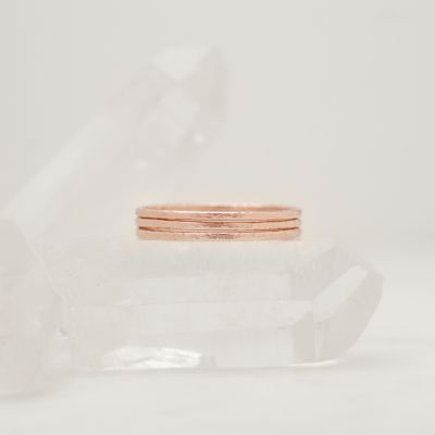 Featherweight Stacking Rings {rose gold plated}