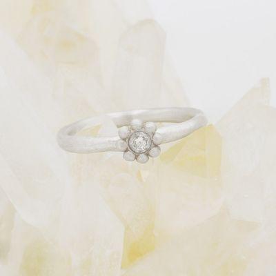 Forever Flower Ring {Sterling Silver}