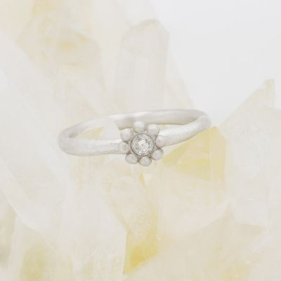 Forever Flower Ring {10k White Gold}