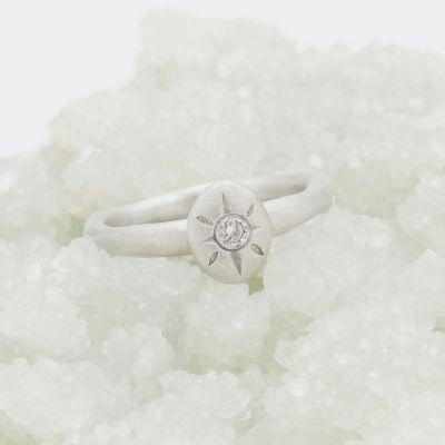 Bright Love Ring {10k White Gold}