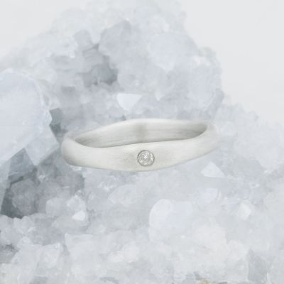 Classic Stacking Ring {10k White Gold}
