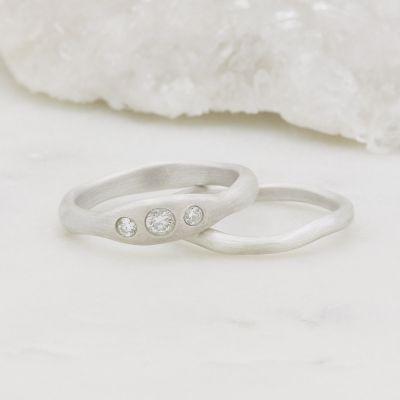 Be Mine Ring Pair {10k White Gold}