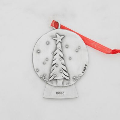 Snow Globe Ornament {Pewter}