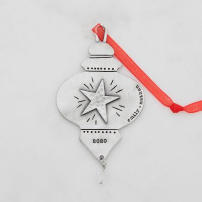 Vintage Glass Ornament {Pewter}