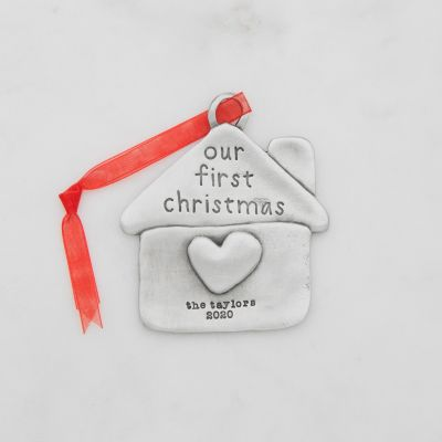 Our First Christmas Ornament {Pewter}