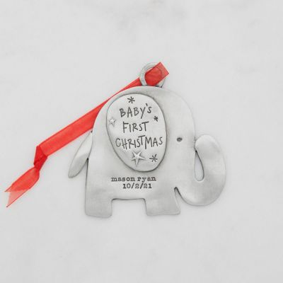 Baby's First Christmas Ornament {Pewter}