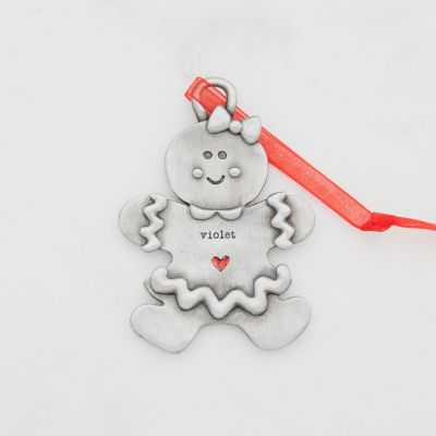 Gingerbread Girl Ornament {Pewter}