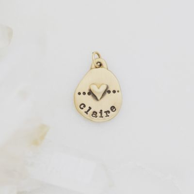Heart with Dots Charm {10K Gold}