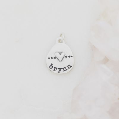 Heart with Dots Charm {Sterling Silver}