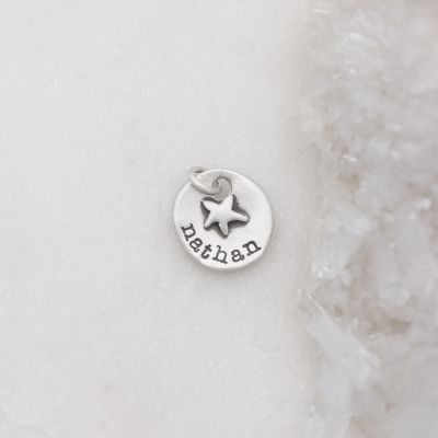 Starry Disc Charm {Sterling Silver}