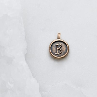 North Star Initial Charm {Bronze}