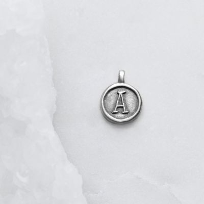 North Star Initial Charm {Sterling Silver}