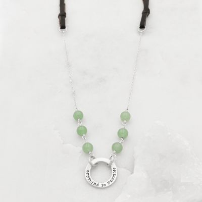 Limited Edition Open Circle necklace with leather