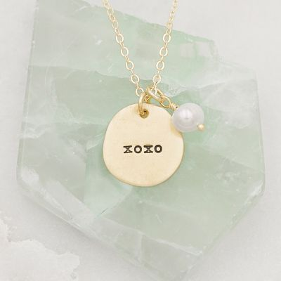 Beloved Name Disc Necklace {14k Gold}