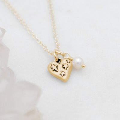 Light + Bright Hearts Necklace {10k Gold}