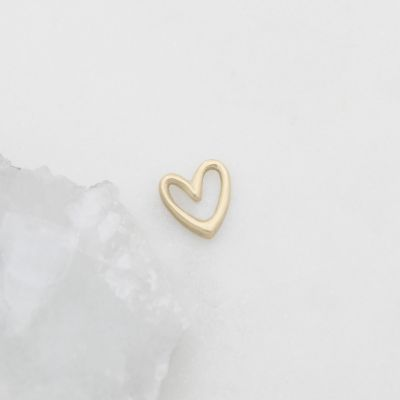 "Love Grows 1/2"" Heart charm {10k Gold}"