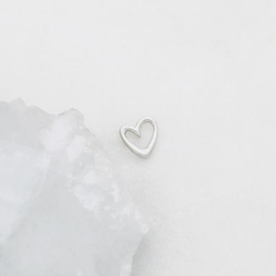 "Love Grows 1/4"" Tiny Heart charm {Sterling Silver}"