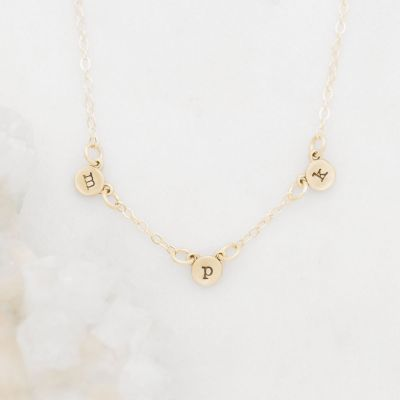 My Darling Ones Initial Necklace {14k Gold}