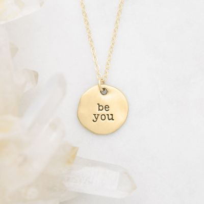 Be You Disc Necklace {14k Gold}