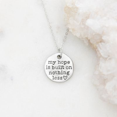 My Hope Is Built Necklace {Pewter}