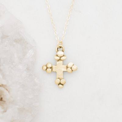 Known and Loved Cross Necklace {14K Gold}