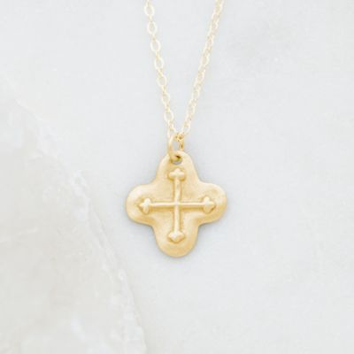 Shining Light Cross Necklace {14K Gold}
