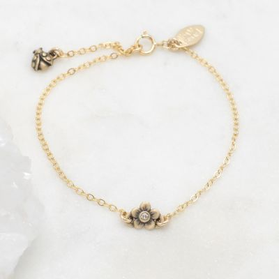 Birthstone Bloom Bracelet {14K Gold}